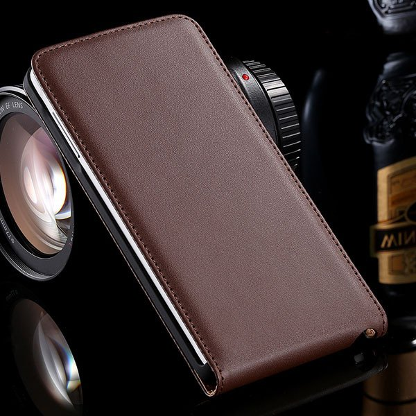 For Note 4 Genuine Leather Case Flip Cover For Samsung Galaxy Note 32269062618-5-brown