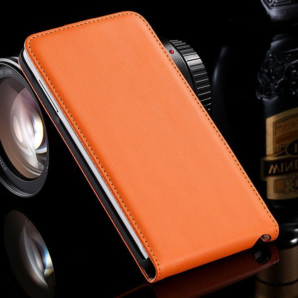 For Note 4 Genuine Leather Case Flip Cover For Samsung Galaxy Note 32269062618-6-orange