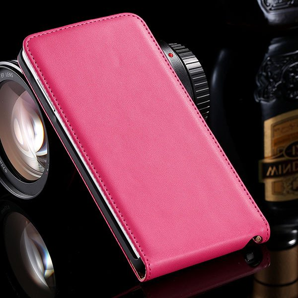 For Note 4 Genuine Leather Case Flip Cover For Samsung Galaxy Note 32269062618-7-hot pink
