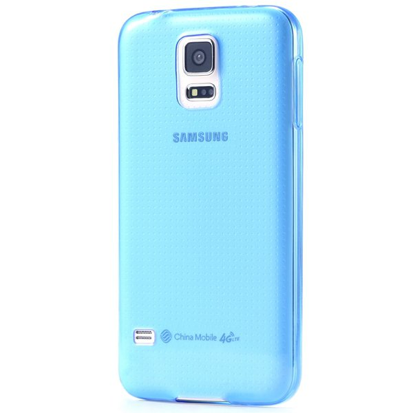 S5 Clear Tpu Case 0.3Mm Soft Rubber Back Cover For Samsung Galaxy  32297857781-2-blue