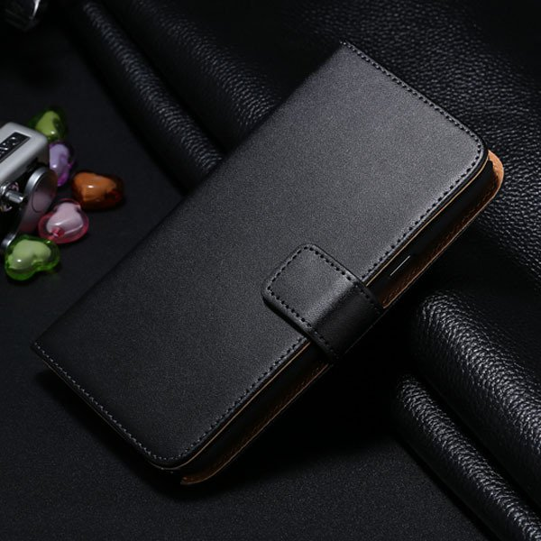 For Note 2 Genuine Leather Case Flip Cover For Samsung Galaxy Note 1772307258-1-black