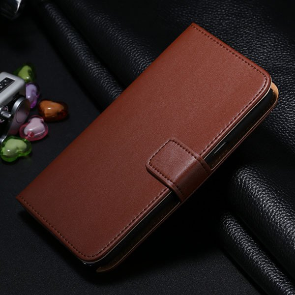 For Note 2 Genuine Leather Case Flip Cover For Samsung Galaxy Note 1772307258-6-brown