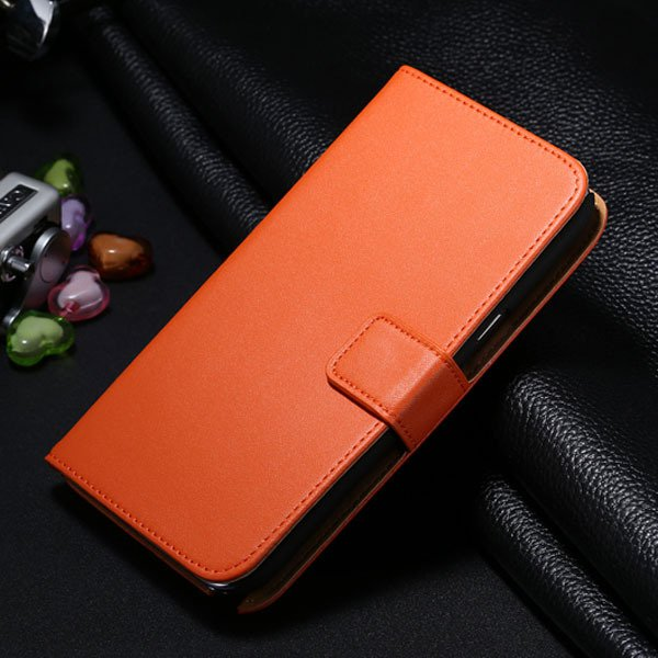 For Note 2 Genuine Leather Case Flip Cover For Samsung Galaxy Note 1772307258-7-orange