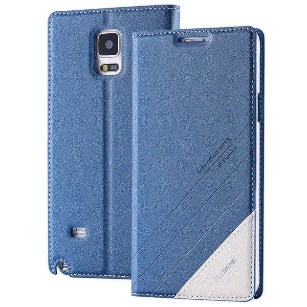 For Note 4 Wallet Case Original Magnetic Flip Cover For Samsung Ga 32266848553-2-blue
