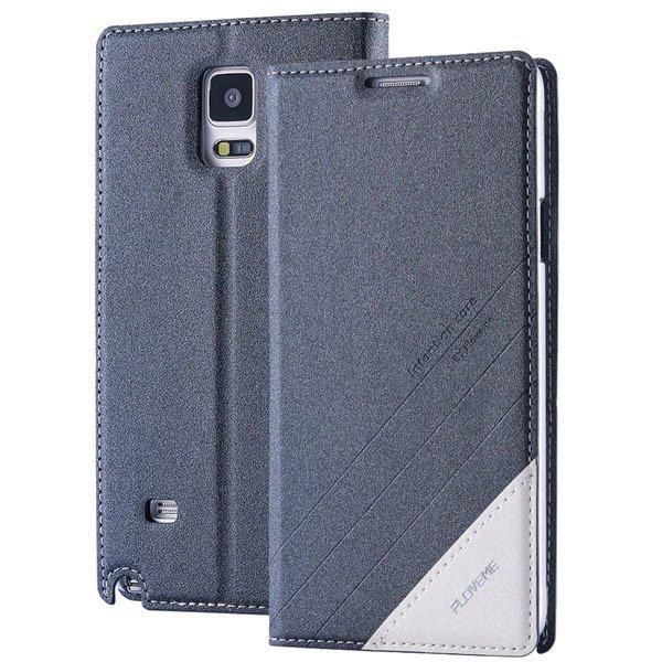 For Note 4 Wallet Case Original Magnetic Flip Cover For Samsung Ga 32266848553-6-gray