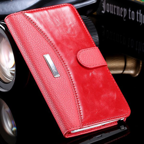 Business Wallet Pouch Bag For Samsung Galaxy Note 4 N9100 Full Lea 32249753668-2-red