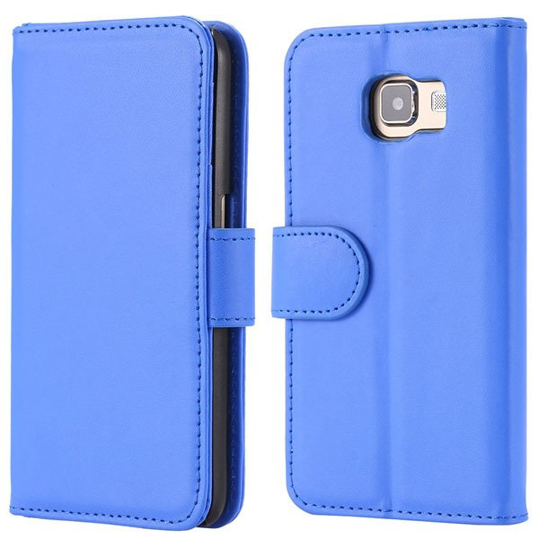 S6 Flip Pu Leather Cover Luxury Full Protect Skin Case For Samsung 32299079566-5-blue