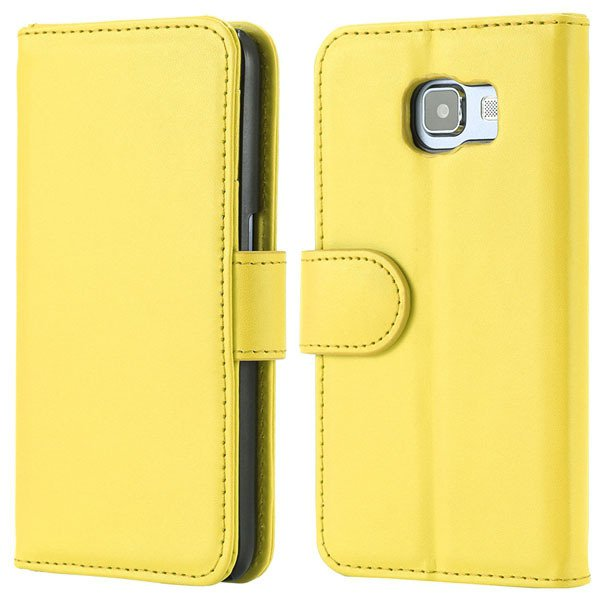 S6 Flip Pu Leather Cover Luxury Full Protect Skin Case For Samsung 32299079566-6-yellow