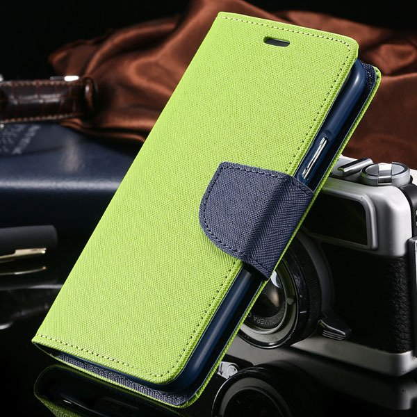 S6 Leather Case Double Color Full Protect Cover For Samsung Galaxy 32302336226-10-green