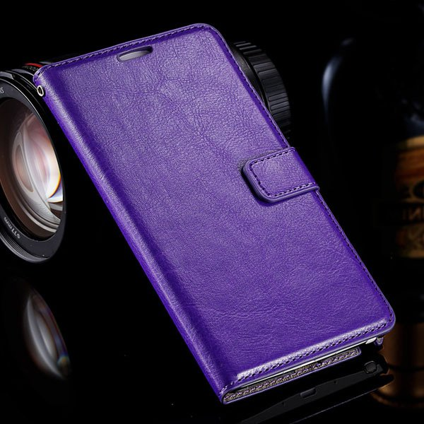 Note 4 Photo Display Flip Case Pu Leather Cover For Samsung Galaxy 32283939907-4-purple