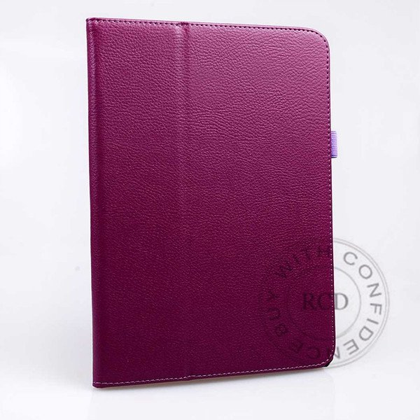 For Samsung Tab 3 Pu Leather Case Flip Wallet Cover Full Body Prot 1138274905-7-Purple