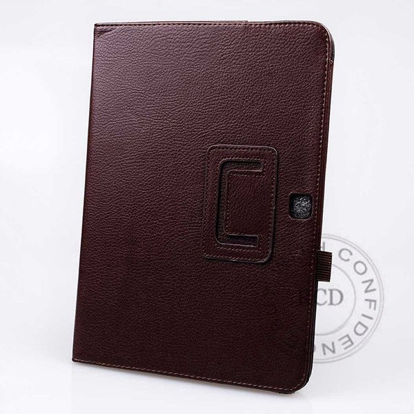 For Samsung Tab 3 Pu Leather Case Flip Wallet Cover Full Body Prot 1138274905-9-Brown