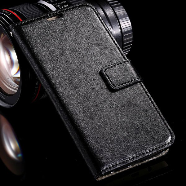 S6 Leather Cover Full Wallet Case For Samsung Galaxy S6 G9200 Luxu 32294771885-1-black