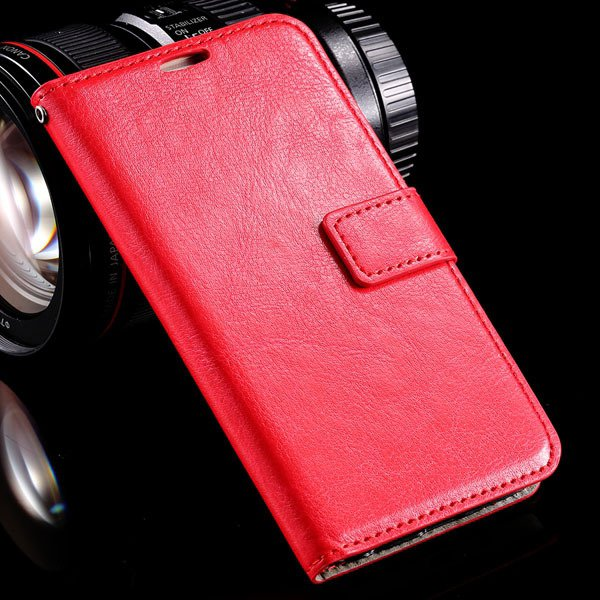 S6 Leather Cover Full Wallet Case For Samsung Galaxy S6 G9200 Luxu 32294771885-3-red
