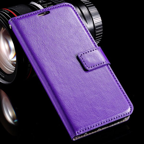 S6 Leather Cover Full Wallet Case For Samsung Galaxy S6 G9200 Luxu 32294771885-4-purple