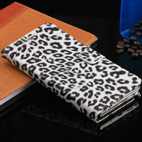 New Arrival Luxury Leopard Wallet Pu Leather Case For Samsung Gala 1321819662-1-White