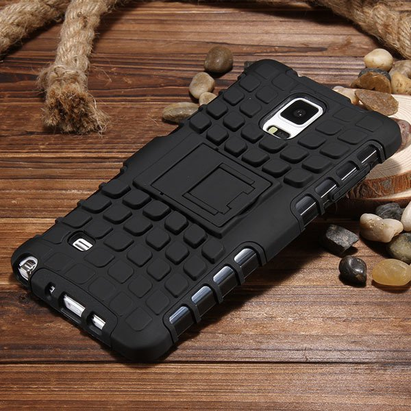 For Note 4 Armor Case Heavy Duty Back Cover For Samsung Galaxy Not 32274808277-8-black