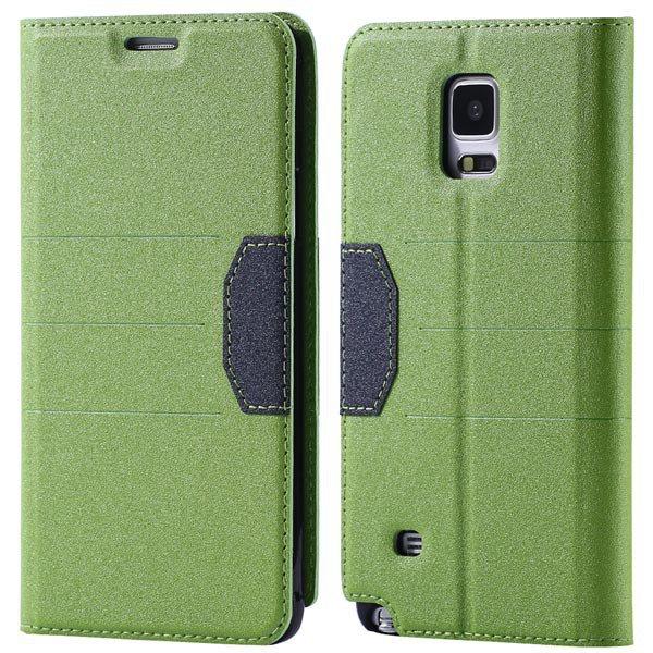 Full Pu Leather Case For Samsung Galaxy Note 4 N9100 Flip Mango Pa 32246409376-2-green