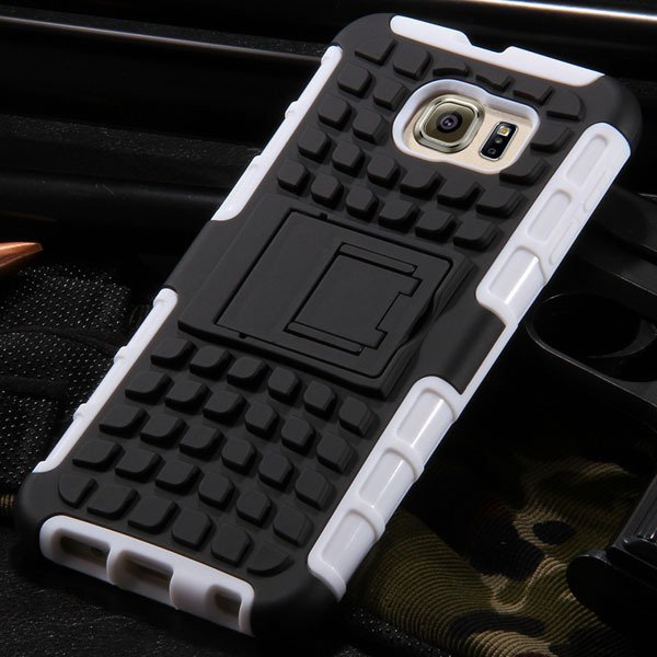 S6 Hybrid Case Anti-Skid Armor Cover For Samsung Galaxy S6 G9200 H 32304459338-2-white