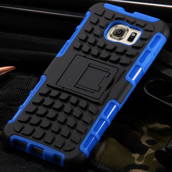 S6 Hybrid Case Anti-Skid Armor Cover For Samsung Galaxy S6 G9200 H 32304459338-4-blue