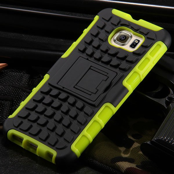 S6 Hybrid Case Anti-Skid Armor Cover For Samsung Galaxy S6 G9200 H 32304459338-5-green