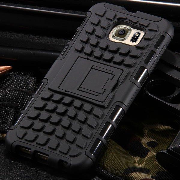 S6 Heavy Duty Armor Case Hybrid Back Cover For Samsung Galaxy S6 G 32304254839-1-black