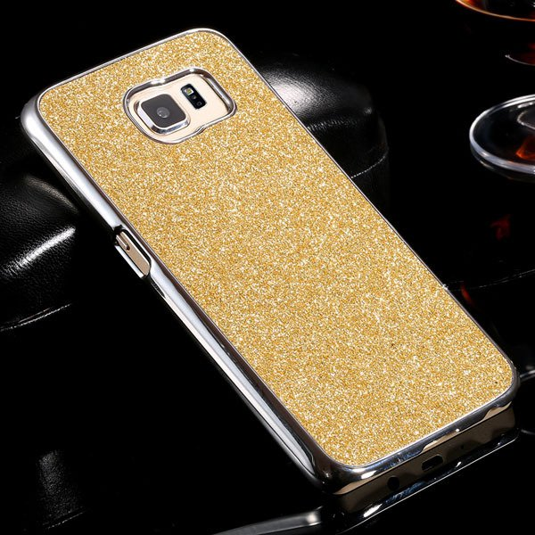 S6 Plating Bling Case Hard Pc+Aluminum Cover For Samsung Galaxy S6 32305604746-6-gold