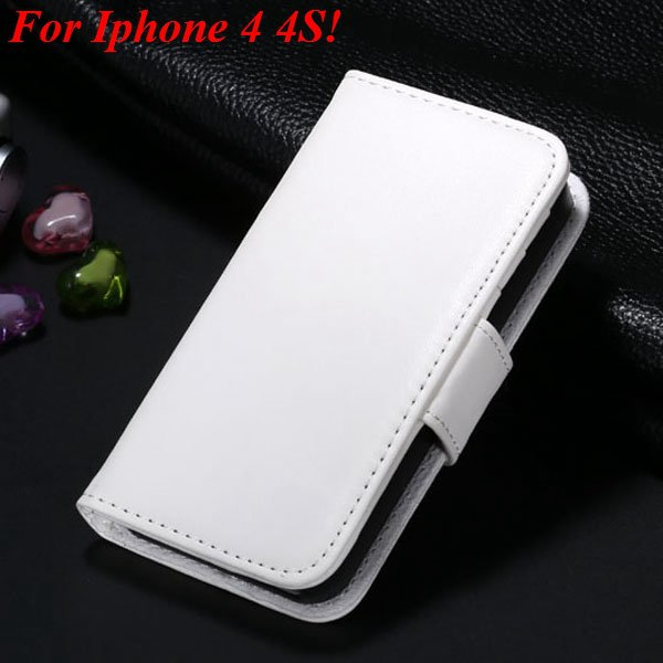 4S 5S Luxury Pu Leather Case Photo Frame Flip Cover For Iphone 5 5 1330267603-13-white for 4s