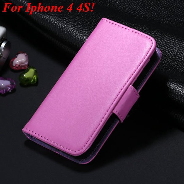 4S 5S Luxury Pu Leather Case Photo Frame Flip Cover For Iphone 5 5 1330267603-16-purple for 4s