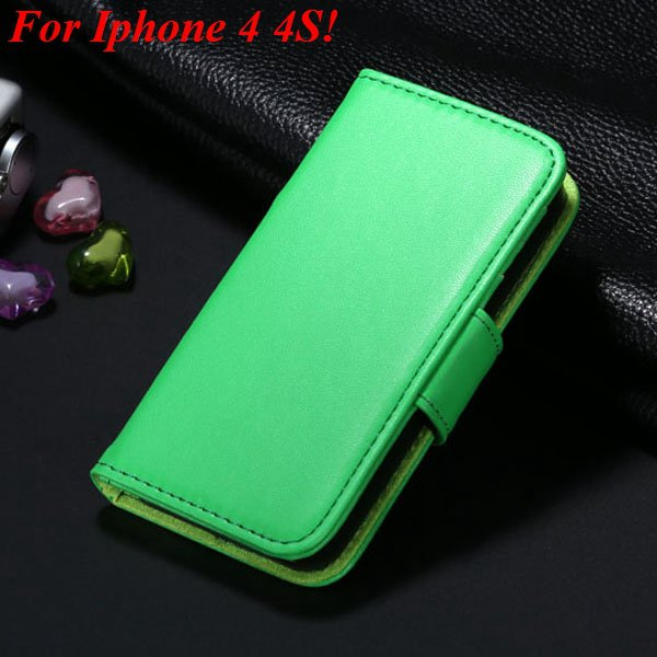 4S 5S Luxury Pu Leather Case Photo Frame Flip Cover For Iphone 5 5 1330267603-19-green  for 4s