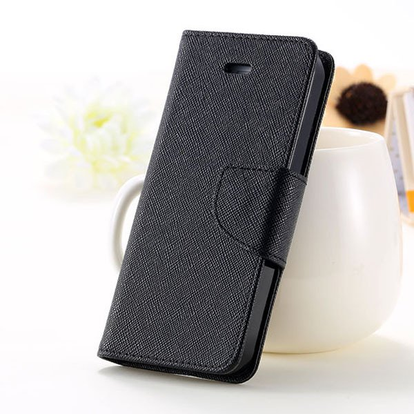 Full Case For Iphone 5 5S 5G Flip Leather Carring Cover With Buckl 1774391390-3-black
