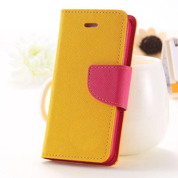 Full Case For Iphone 5 5S 5G Flip Leather Carring Cover With Buckl 1774391390-4-yellow