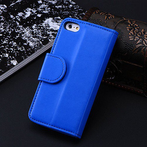 5C Luxury Pu Leather Case Photo Frame Wallet Book Cover For Iphone 1330010949-4-Blue
