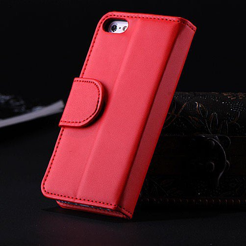 5C Luxury Pu Leather Case Photo Frame Wallet Book Cover For Iphone 1330010949-5-Red