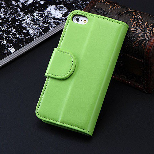 5C Luxury Pu Leather Case Photo Frame Wallet Book Cover For Iphone 1330010949-7-Army Green