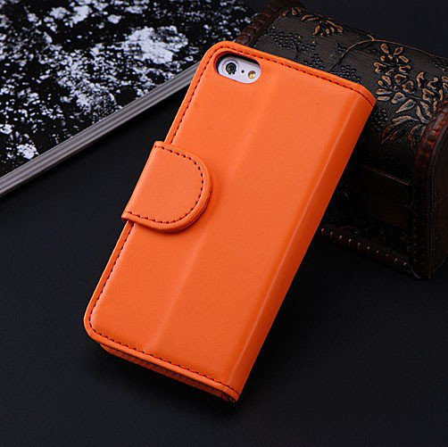 5C Luxury Pu Leather Case Photo Frame Wallet Book Cover For Iphone 1330010949-10-Orange