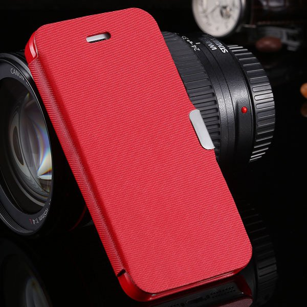 5S Magnetic Wallet Book Case Flip Pu Leather Cover For Iphone 5 5S 1057199030-3-red
