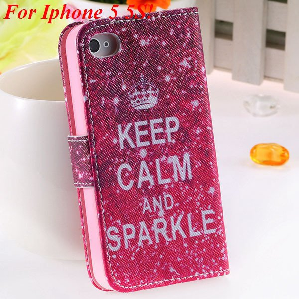 Cute Animal Structure Flip Wallet Case For Iphone 5 5S 5G 4 4S 4G  1925524274-14-5s hot pink crown
