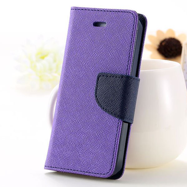 5C Case Wallet Book Style Full Case For Iphone 5C Colorful Flip Pu 1774245439-4-purple