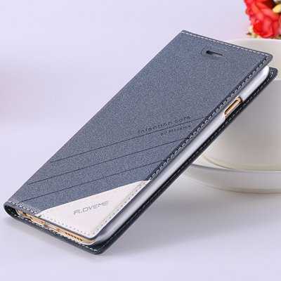 5S Magnetic Flip Case Original Pu Leather Cover For Iphone 5 5S 5G 32267505715-6-gray