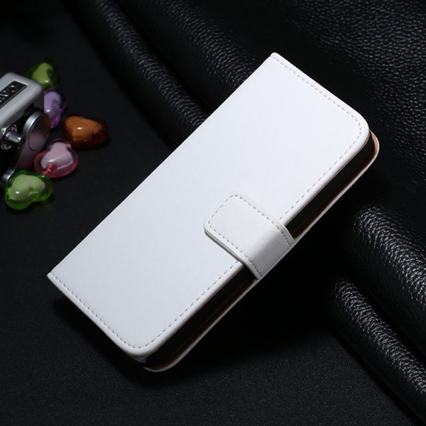 5C Genuine Leather Case For Iphone 5C Flip Wallet Cover Stand Func 1850663553-5-white