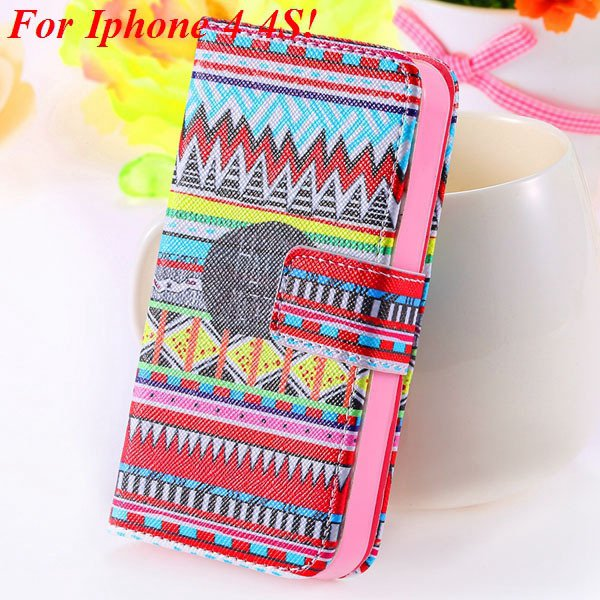 Matt Color Printed Flip Leather Case For Iphone 4 4S 4G 5 5S 5G Wa 1925063846-7-4s Small Cultral