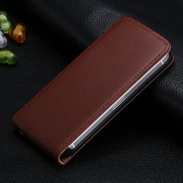 5S Flip Genuine Leather Case For Iphone 5 5S 5G Full Protective Sk 1793744595-3-brown