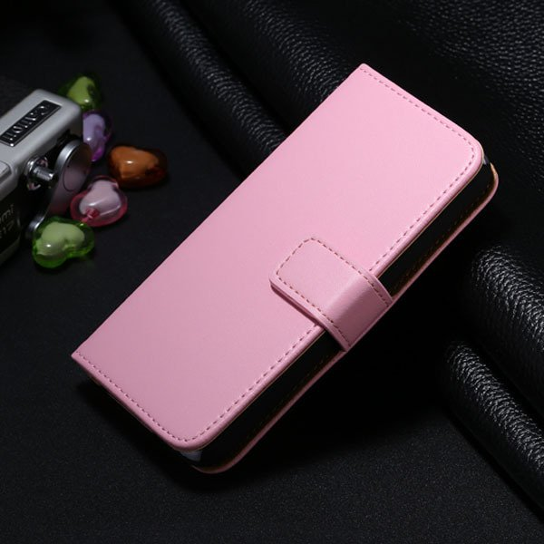 5S Genuine Leather Case For Iphone 5 5S Wallet Cover With Magnetic 1772007304-5-pink