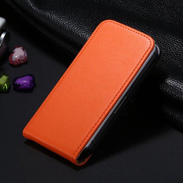5C Genuine Leather Flip Case For Iphone 5C Vertical Full Phone Cov 1793633528-5-orange