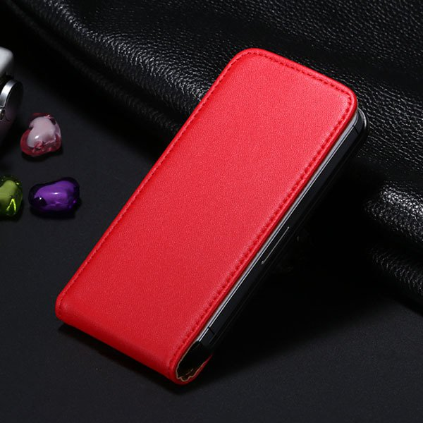 5C Genuine Leather Flip Case For Iphone 5C Vertical Full Phone Cov 1793633528-7-red