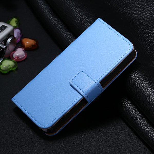 5S Flip Leather Case Genuine Leather Cover For Iphone 5 5S 5G Full 1335500805-7-blue