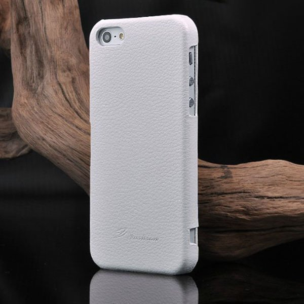 Unique Lychee Pattern Flip Genuine Leather Case For Iphone 5 5S 5G 1003880523-2-white
