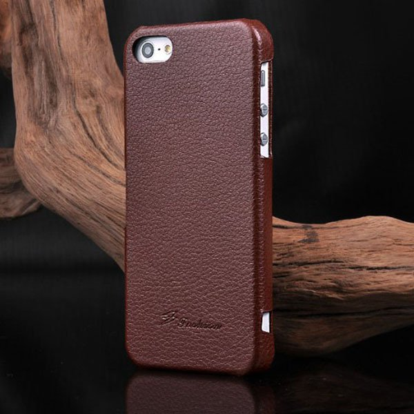Unique Lychee Pattern Flip Genuine Leather Case For Iphone 5 5S 5G 1003880523-4-brown