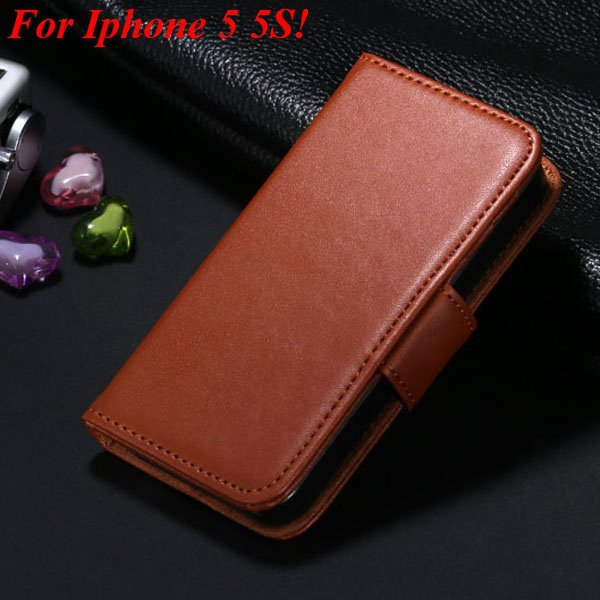 Full Flip Case For Iphone 5 5S 5G Cover Comprehensive Phone Bag Ph 2038369358-3-brown for 5S